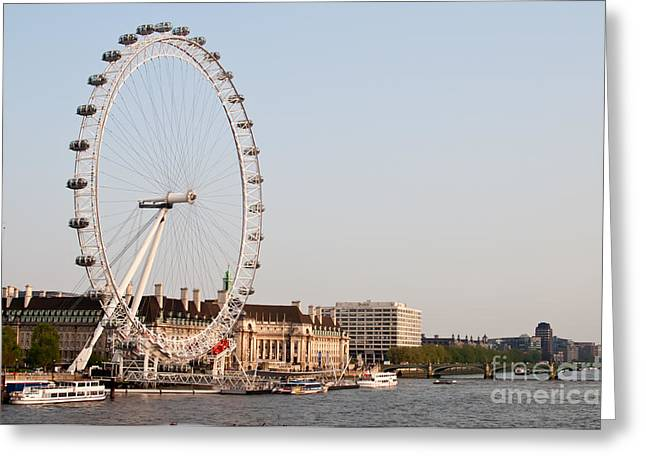Greeting Card featuring the photograph London Eye Day by Matt Malloy