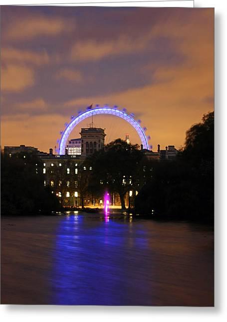 London Eye From St James Greeting Card by Dan Davidson