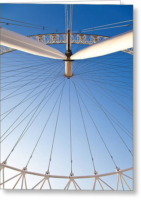 London Eye Geometry Greeting Card by Adam Pender