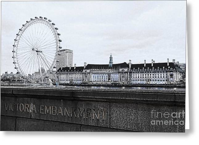 London Eye Mono Greeting Card