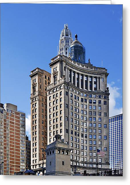 London Guarantee And Accident Building Chicago Greeting Card by Christine Till