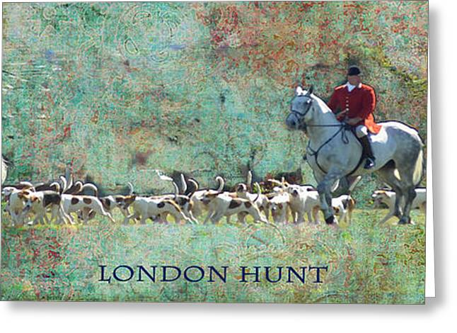 London Hunt Greeting Card by Melanie Prosser