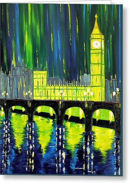 London Limelight Greeting Card by Galina Zimmatore