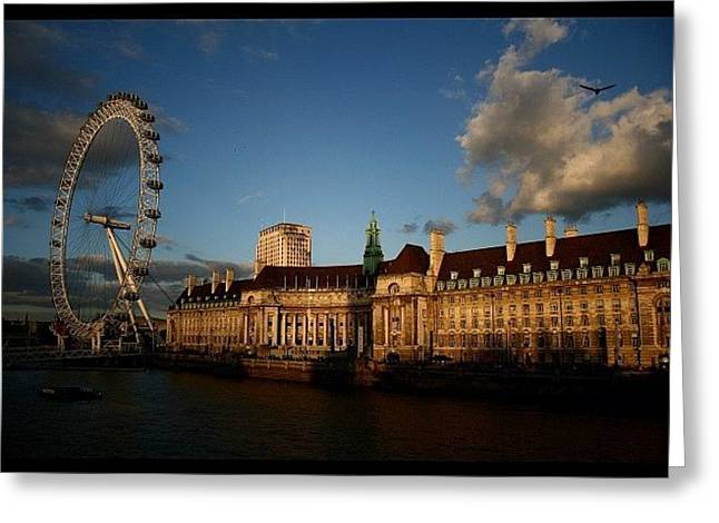 #london #londoneye #westminsterbridge Greeting Card