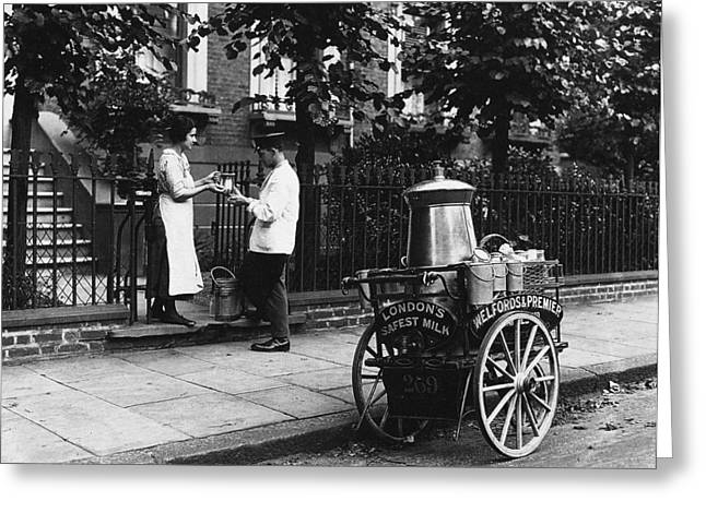 London Milkman, C1905 Greeting Card