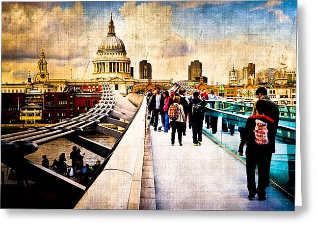 London Of My Dreams - St Paul's Greeting Card by Mark E Tisdale