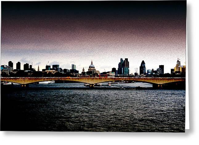London Over The Waterloo Bridge Greeting Card by RicardMN Photography