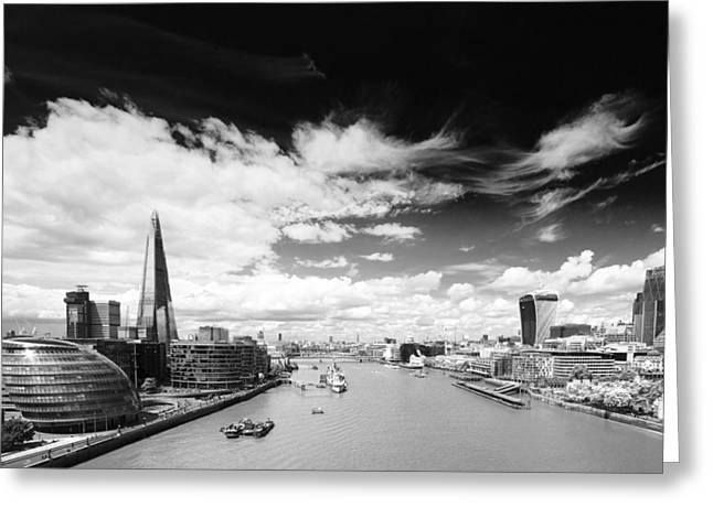 London Panorama Greeting Card by Chevy Fleet