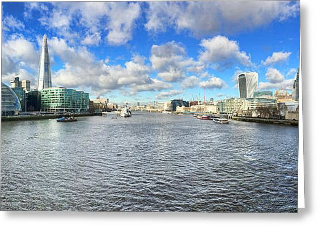 London Panorama Greeting Card by Colin and Linda McKie