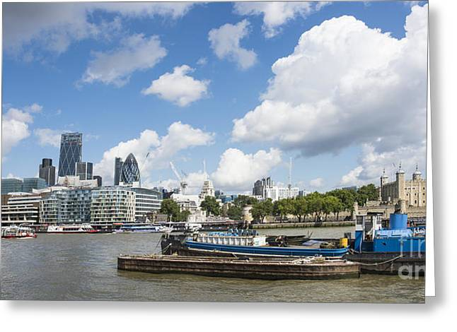 London Panoramic Greeting Card by Donald Davis