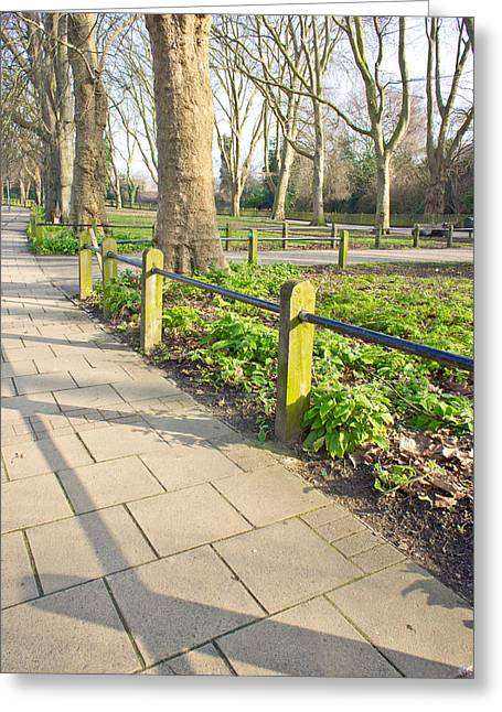 London Park Greeting Card by Tom Gowanlock
