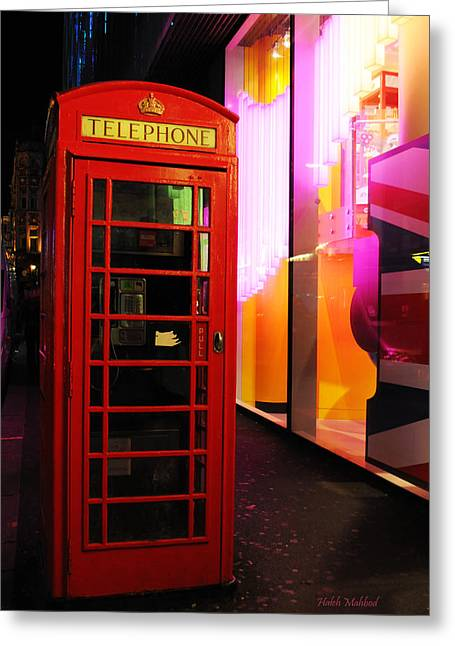 London Red Phone Booth Greeting Card