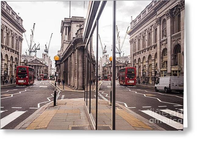 London Reflected Greeting Card