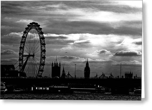London Silhouette Greeting Card by Jorge Maia