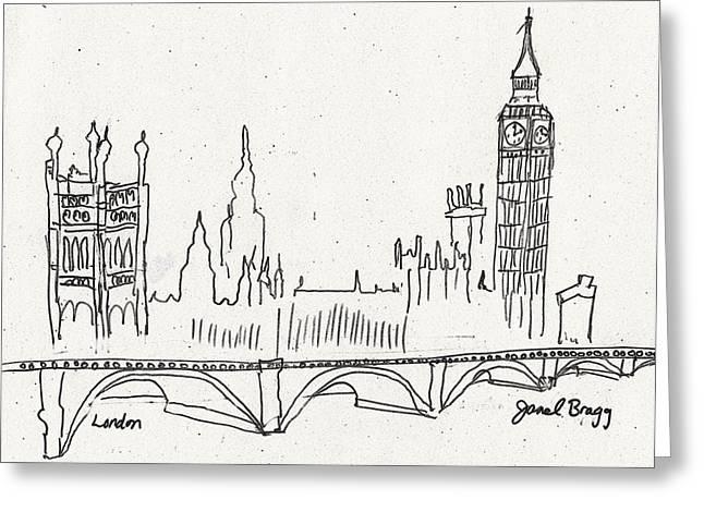 London Sketch Greeting Card