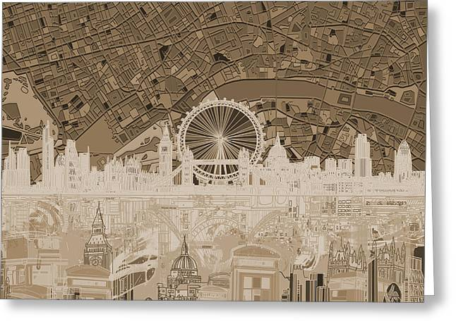 London Skyline Abstract 11 Greeting Card