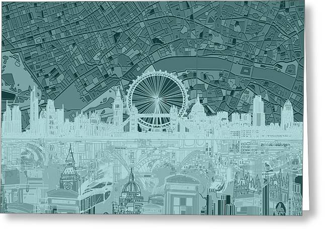 London Skyline Abstract 12 Greeting Card