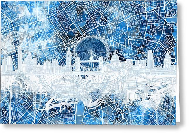 London Skyline Abstract 13 Greeting Card