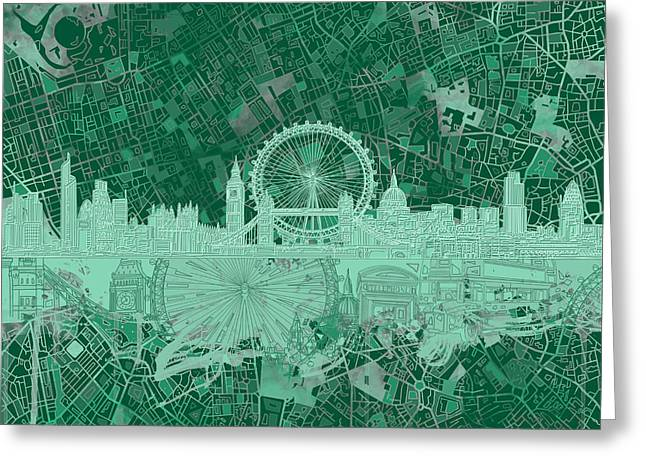 London Skyline Abstract 2 Greeting Card