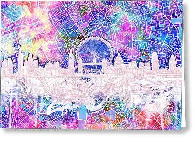 London Skyline Abstract 4 Greeting Card