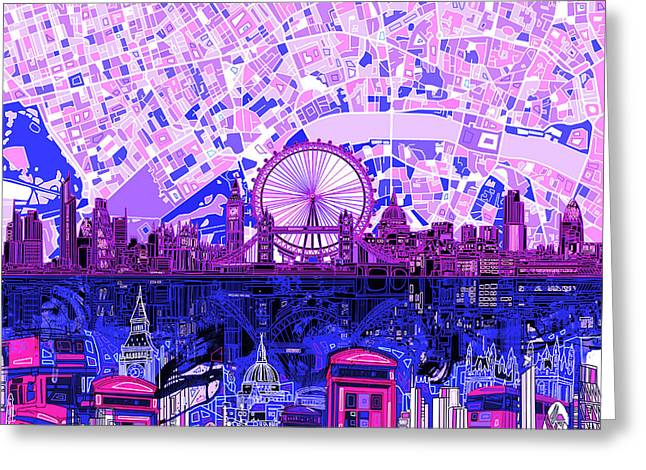 London Skyline Abstract 9 Greeting Card