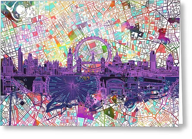 London Skyline Abstract Greeting Card