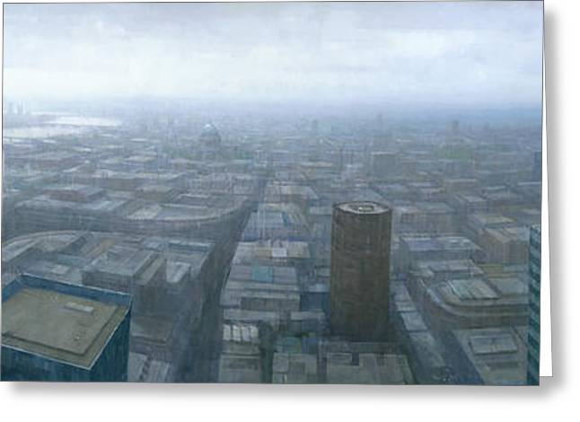 London Skyline Cityscape Greeting Card