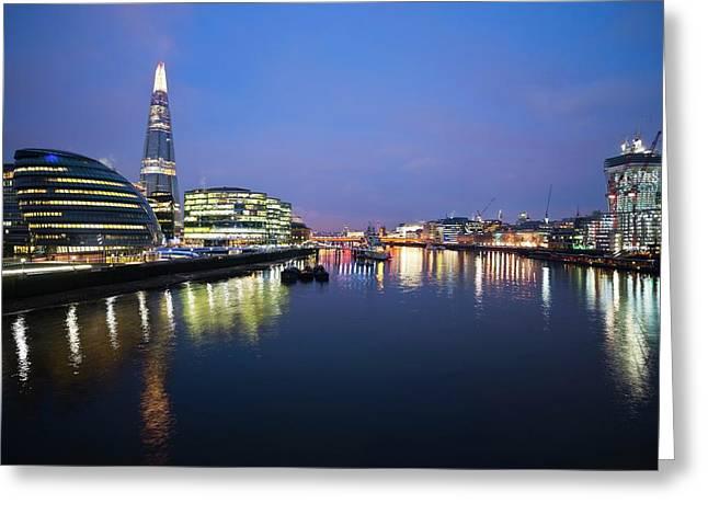 London Skyline From Tower Bridge Greeting Card by Jeremy Walker
