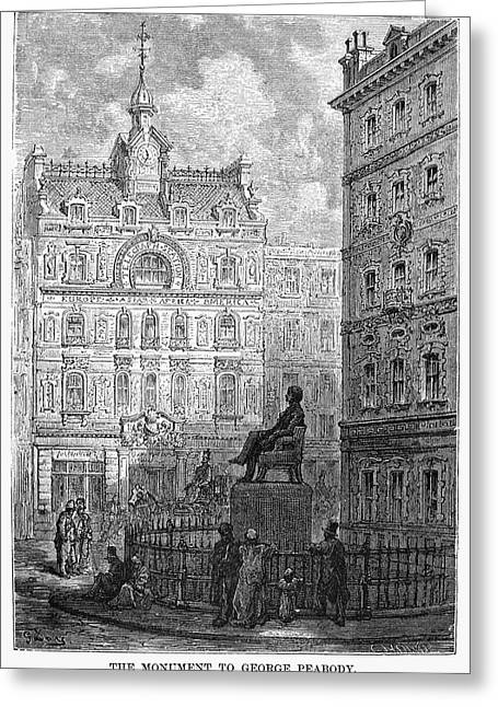 London Statue, 1872 Greeting Card by Granger