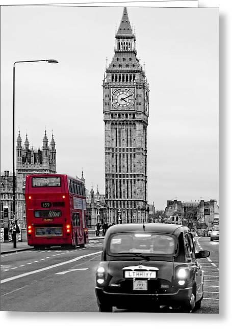 London Street-view Greeting Card by Joachim G Pinkawa