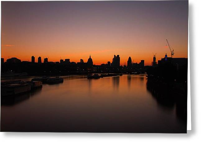 London Sunrise 2 Greeting Card