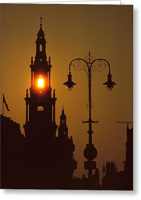 London Sunrise Greeting Card by Anthony Howarth