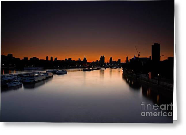 London Sunrise Greeting Card