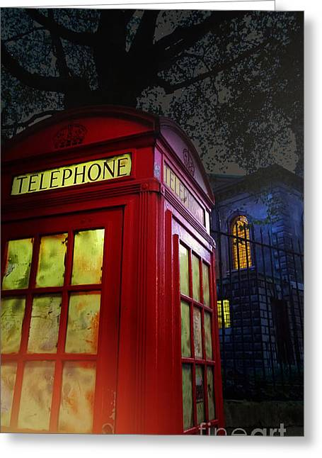 London Tardis Greeting Card
