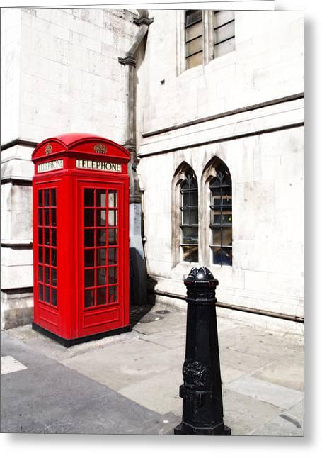 London Telephone Box Greeting Card