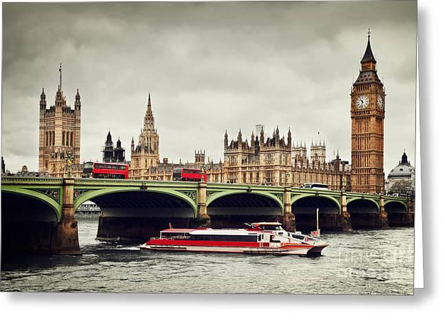 London The Uk Big Ben Greeting Card by Michal Bednarek