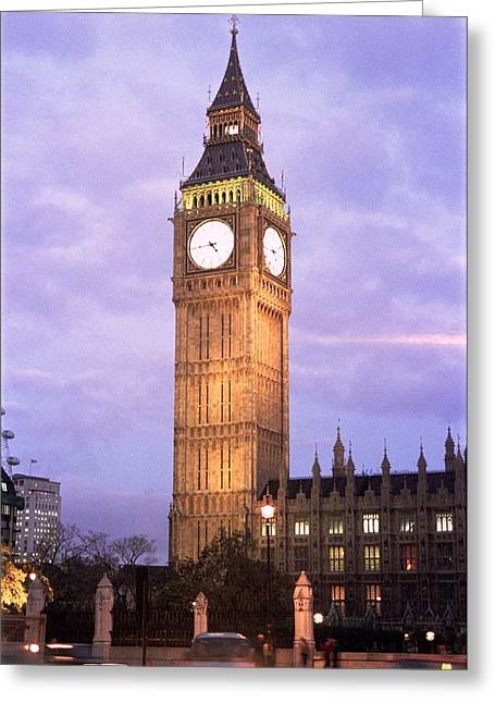 London Time Greeting Card
