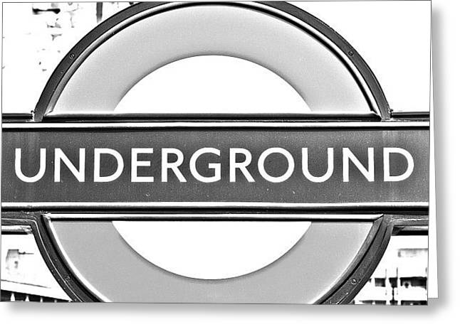 #london #tube #underground Greeting Card