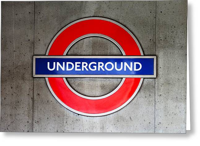 London Underground Sign Greeting Card