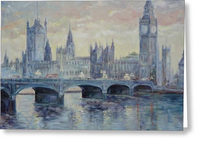 London Westminster Bridge Greeting Card