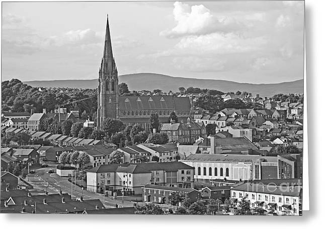 Londonderry Greeting Card by Mary Carol Story