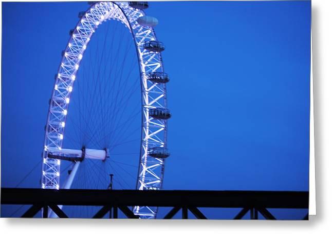 London's Eye At Dusk Greeting Card