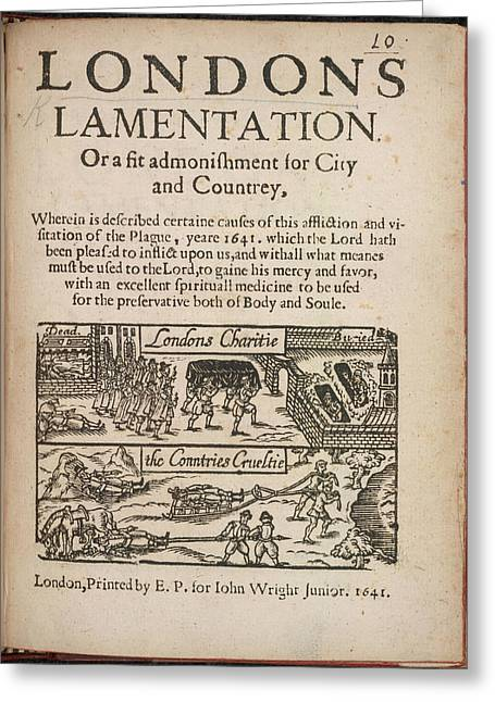 London's Lamentation Greeting Card by British Library