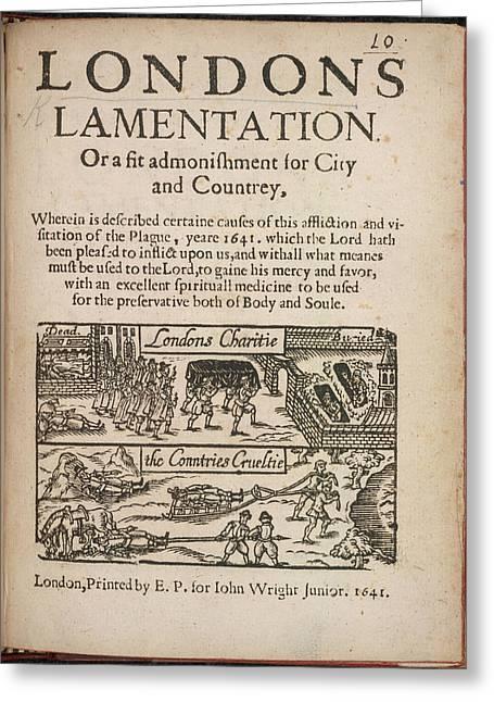 London's Lamentation Greeting Card