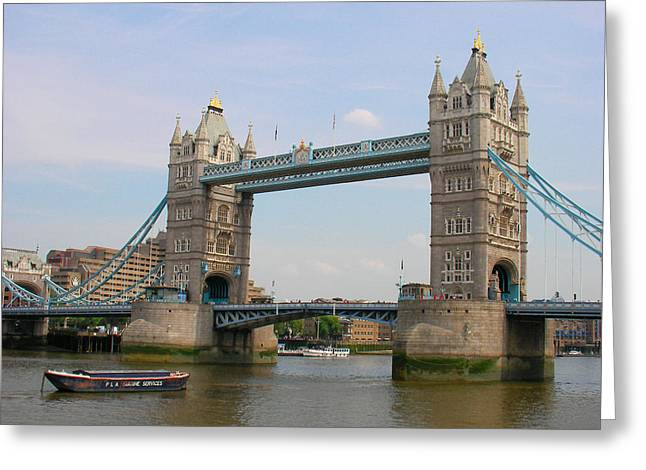 London's Tower Bridge Greeting Card