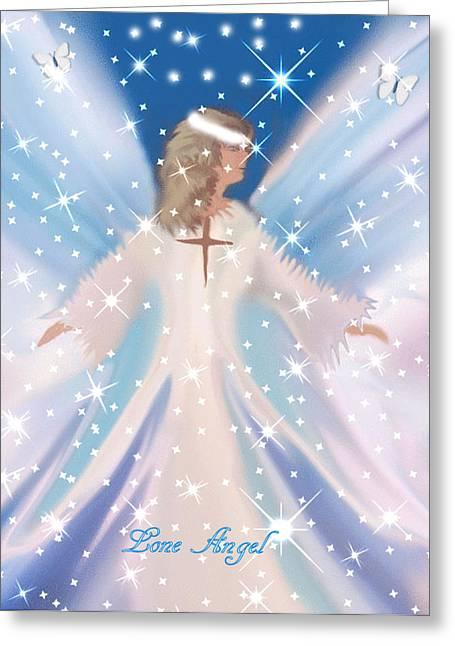 Lone Angel Greeting Card by Sherri's Of Palm Springs