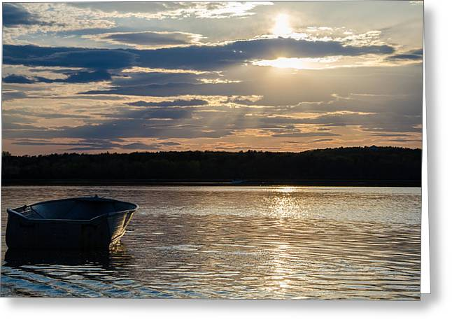 Lone Boat Greeting Card by Kristopher Schoenleber