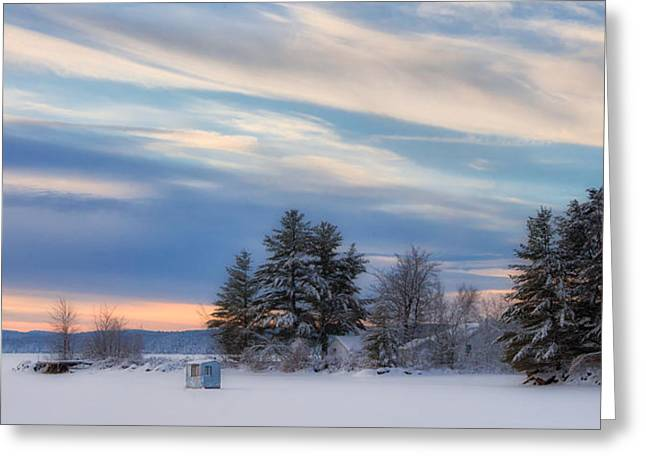 Lone Icy Shanty Greeting Card by Darylann Leonard Photography