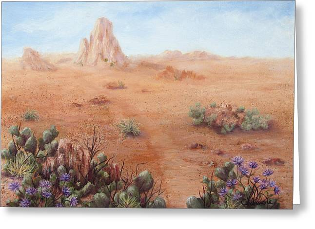 Lone Mesa Greeting Card by Roseann Gilmore
