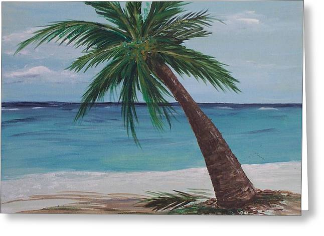 Lone Palm Greeting Card by Debbie Baker